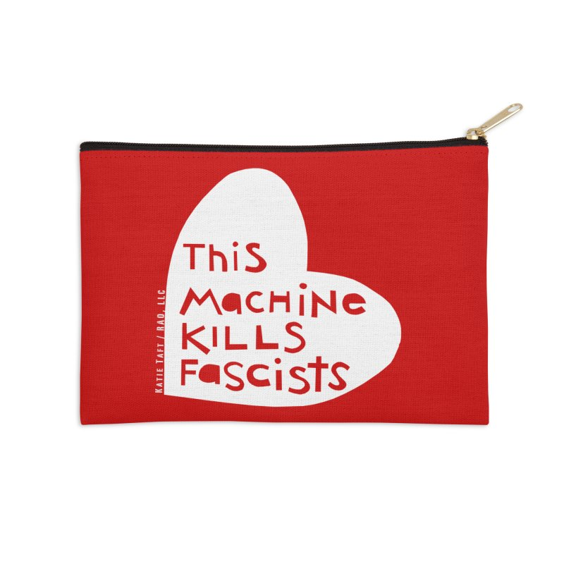 This Machine White Accessories Zip Pouch by Revolution Art Offensive
