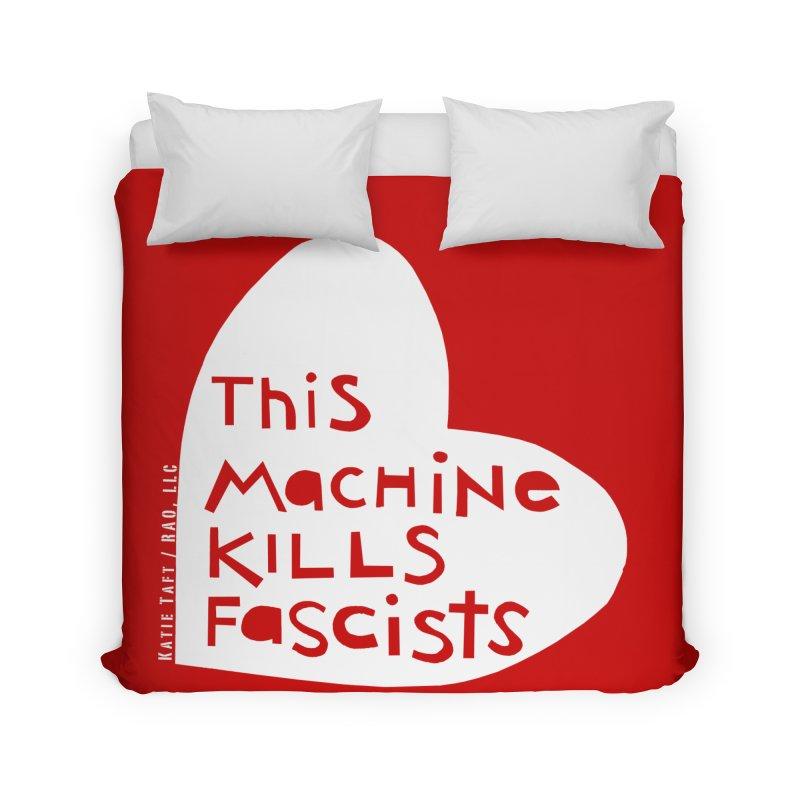 This Machine White Home Duvet by Revolution Art Offensive