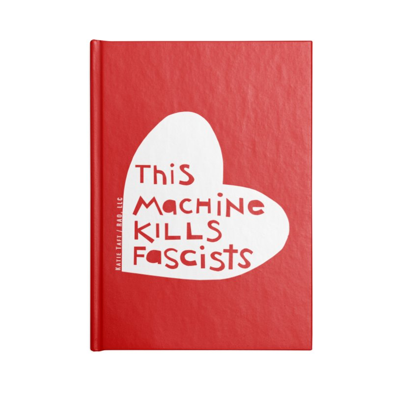 This Machine White Accessories Notebook by Revolution Art Offensive