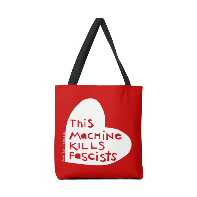 This Machine White Accessories Bag by Revolution Art Offensive