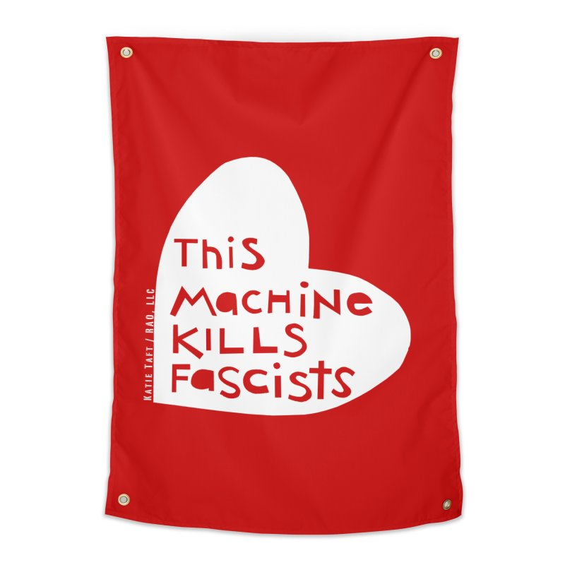 This Machine White Home Tapestry by Revolution Art Offensive