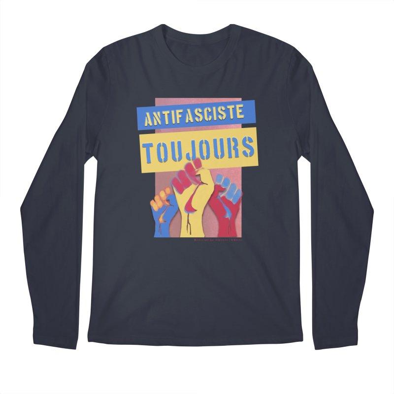 Antifasciste Toujours F/C Men's Regular Longsleeve T-Shirt by Revolution Art Offensive
