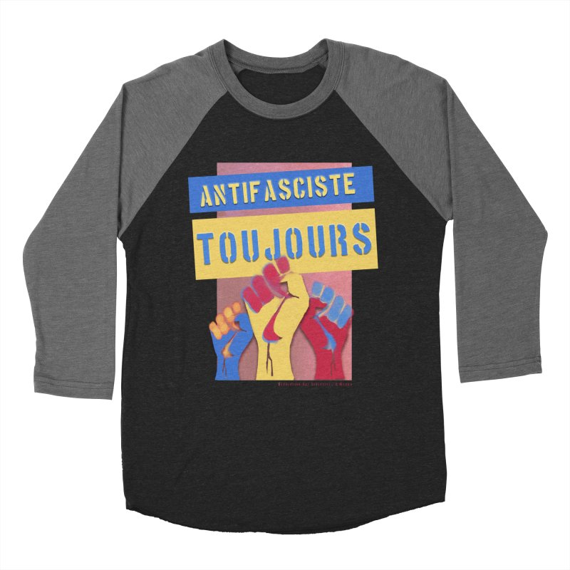 Antifasciste Toujours F/C Men's Baseball Triblend T-Shirt by Revolution Art Offensive