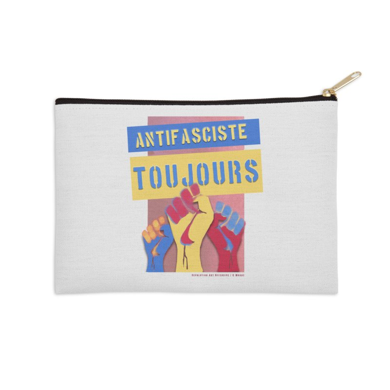Antifasciste Toujours F/C Accessories Zip Pouch by Revolution Art Offensive