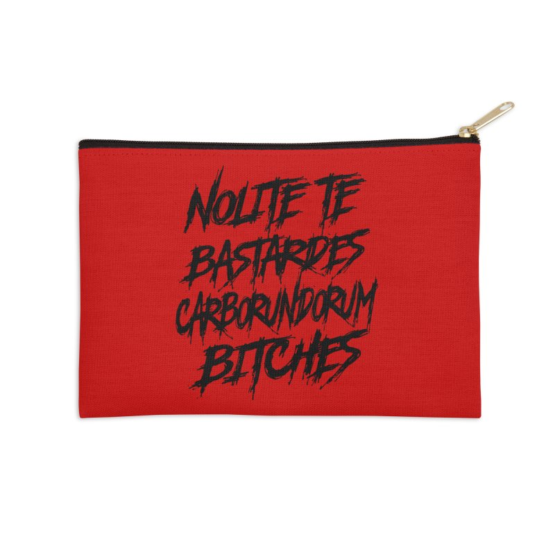 Nolite Te Bastardes for ProChoice and ReproHealth Accessories Zip Pouch by Revolution Art Offensive
