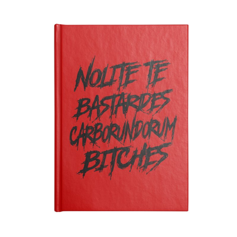 Nolite Te Bastardes for ProChoice and ReproHealth Accessories Notebook by Revolution Art Offensive