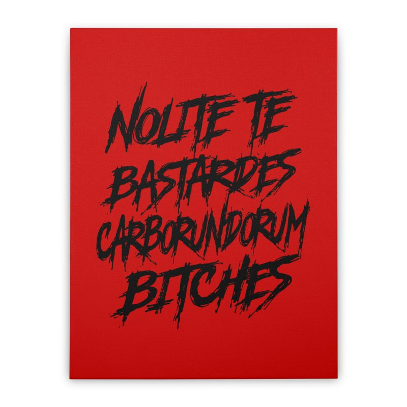 Nolite Te Bastardes for ProChoice and ReproHealth Home Stretched Canvas by Revolution Art Offensive
