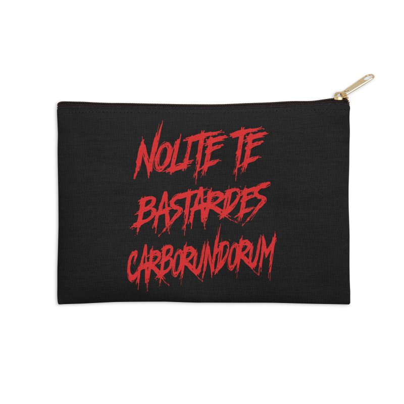 Nolite Te Bastardes RED Handmaid's Tale Accessories Zip Pouch by Revolution Art Offensive
