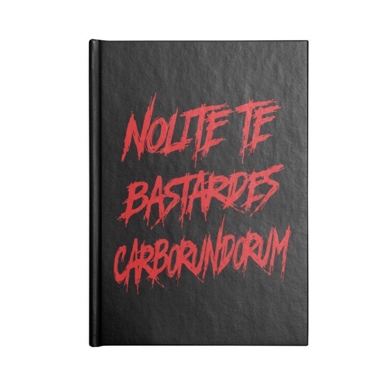 Nolite Te Bastardes RED Handmaid's Tale Accessories Notebook by Revolution Art Offensive