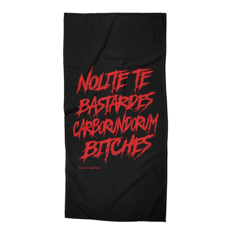 Nolite Te Bastardes Bitches Handmaid'sTale ReproRights RED Accessories Beach Towel by Revolution Art Offensive