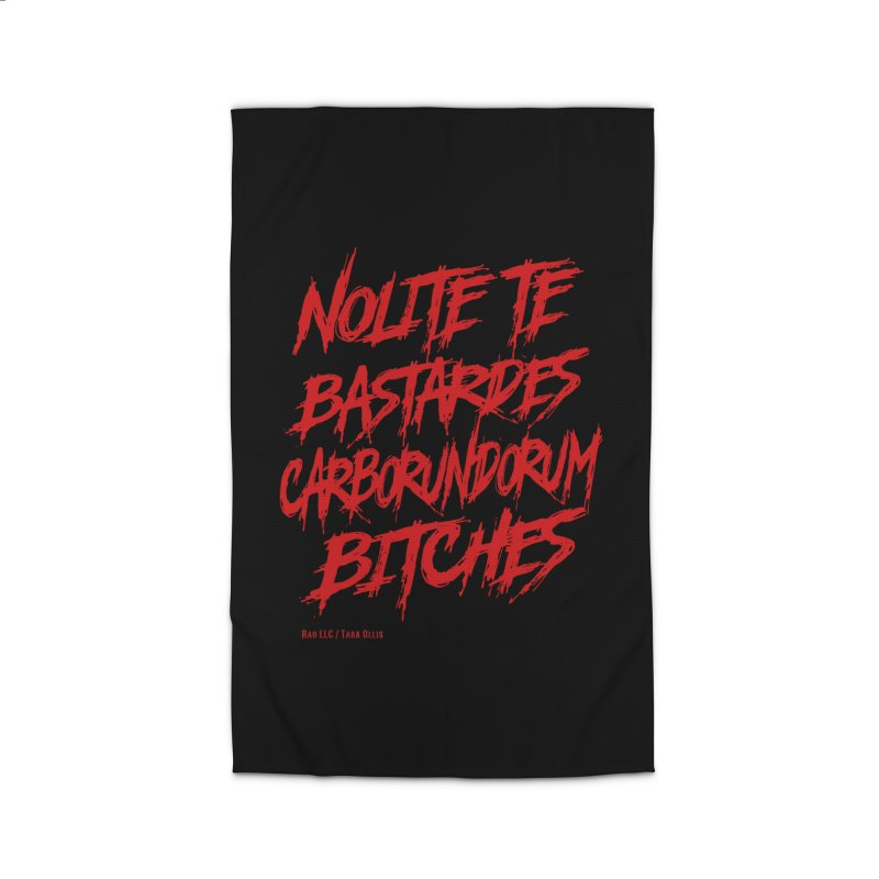 Nolite Te Bastardes Bitches Handmaid'sTale ReproRights RED Home Rug by Revolution Art Offensive