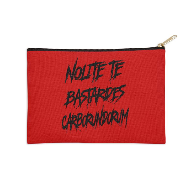 Nolite Te Bastardes Black Handmaid's Tale ReproHealth Accessories Zip Pouch by Revolution Art Offensive