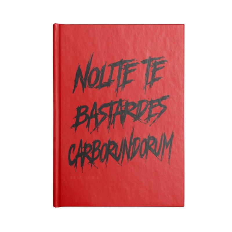 Nolite Te Bastardes Black Handmaid's Tale ReproHealth Accessories Notebook by Revolution Art Offensive