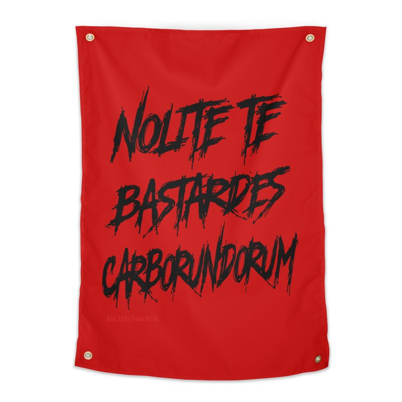 Nolite Te Bastardes Black Handmaid's Tale ReproHealth Home Tapestry by Revolution Art Offensive