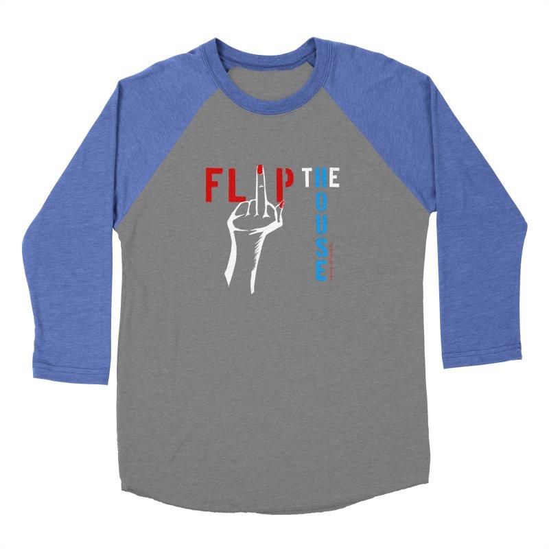 Flip the House 2018 Election  Men's Baseball Triblend T-Shirt by Revolution Art Offensive
