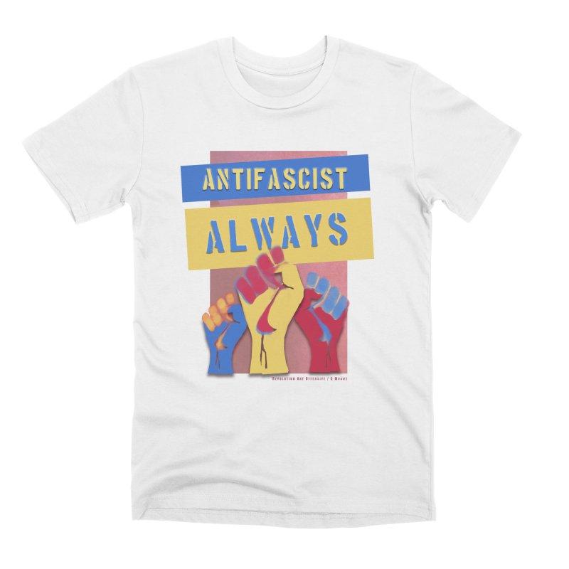 Antifascist Always: English Men's Premium T-Shirt by Revolution Art Offensive