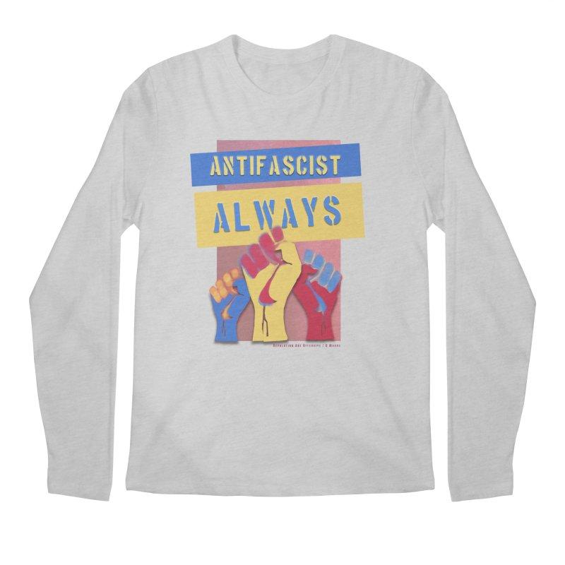 Antifascist Always: English Men's Regular Longsleeve T-Shirt by Revolution Art Offensive