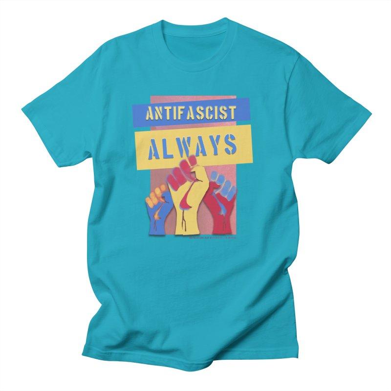Antifascist Always: English Women's Regular Unisex T-Shirt by Revolution Art Offensive