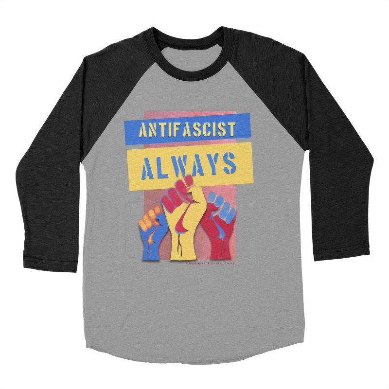Antifascist Always: English Men's Baseball Triblend T-Shirt by Revolution Art Offensive