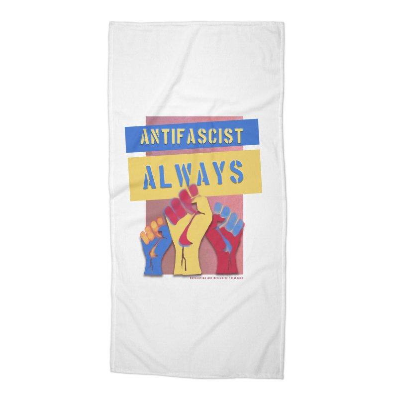 Antifascist Always: English Accessories Beach Towel by Revolution Art Offensive