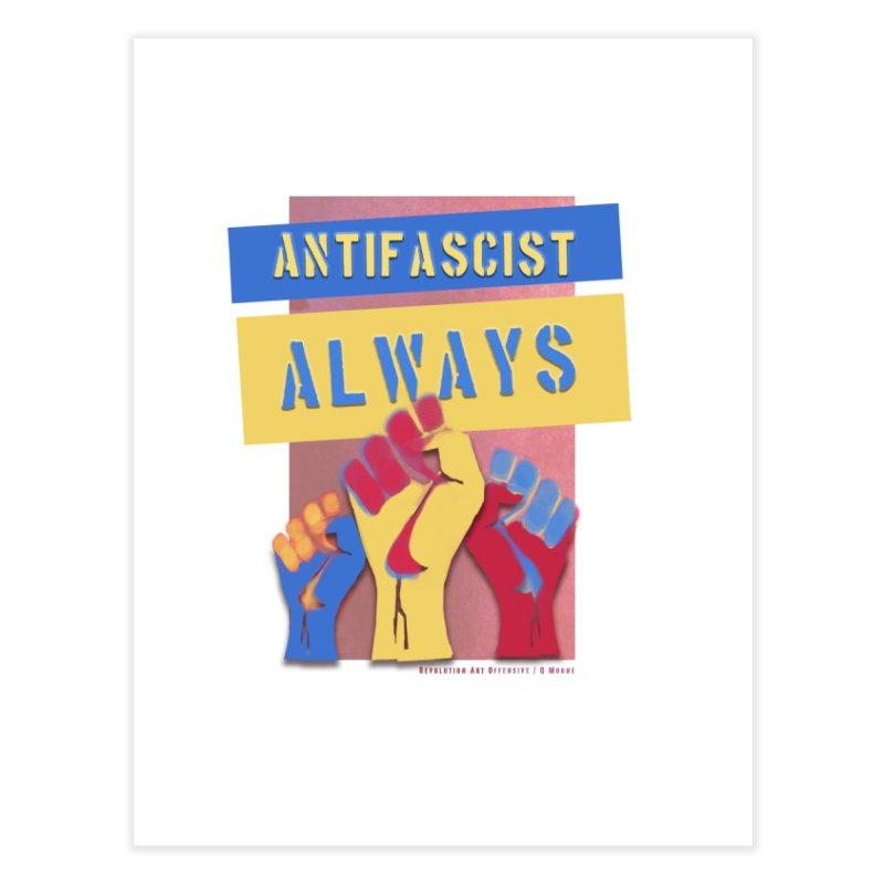 Antifascist Always: English Home Fine Art Print by Revolution Art Offensive