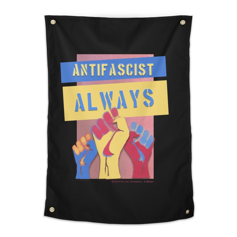 Antifascist Always: English Home Tapestry by Revolution Art Offensive