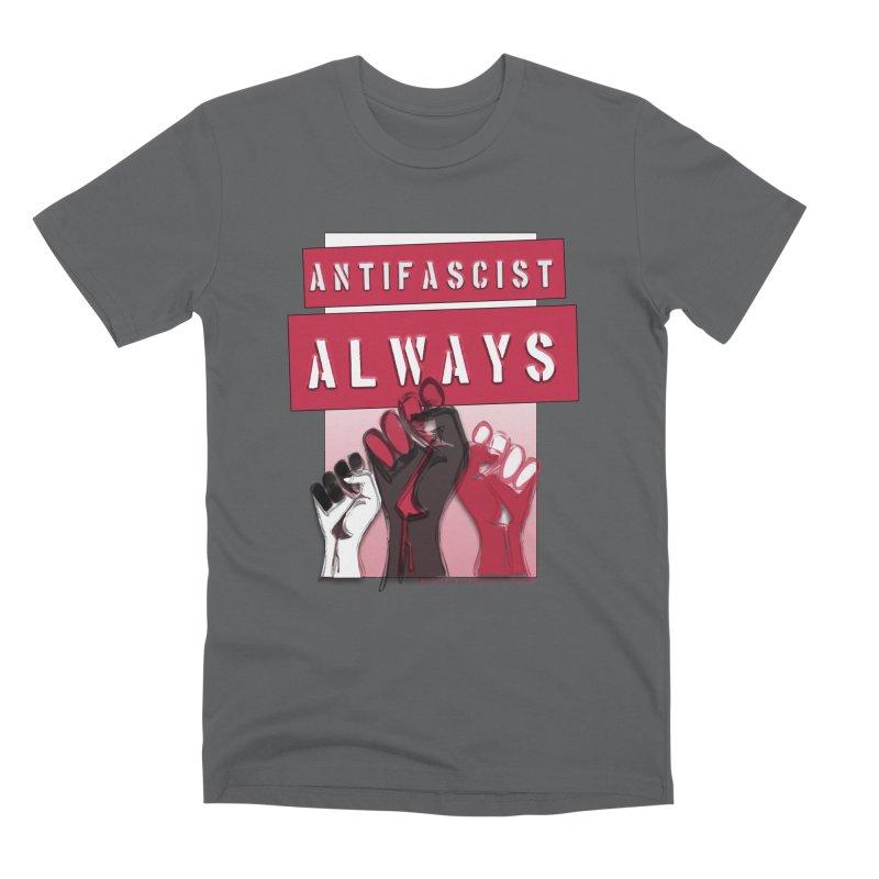Antifascist Always Red English Men's Premium T-Shirt by Revolution Art Offensive