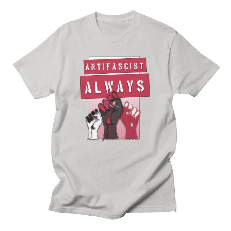 Antifascist Always Red English Women's Unisex T-Shirt by Revolution Art Offensive