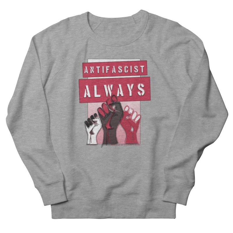 Antifascist Always Red English Men's Sweatshirt by Revolution Art Offensive