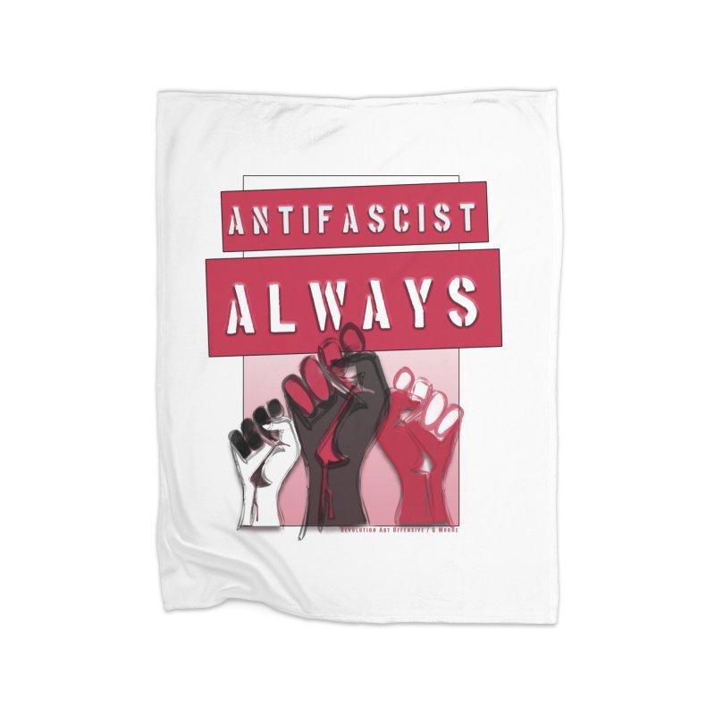 Antifascist Always Red English Home Blanket by Revolution Art Offensive