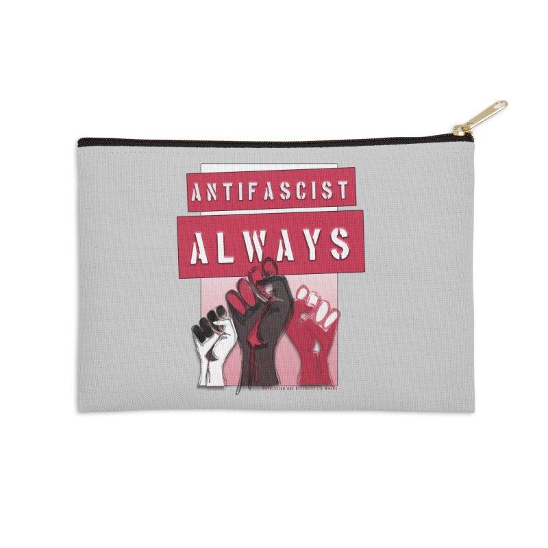 Antifascist Always Red English Accessories Zip Pouch by Revolution Art Offensive