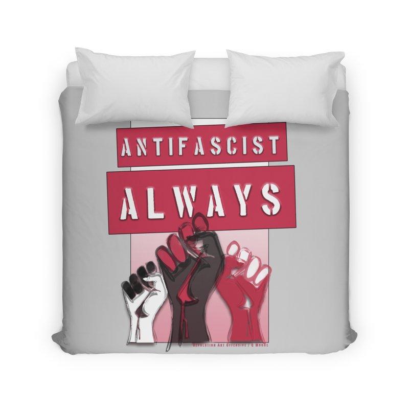 Antifascist Always Red English Home Duvet by Revolution Art Offensive