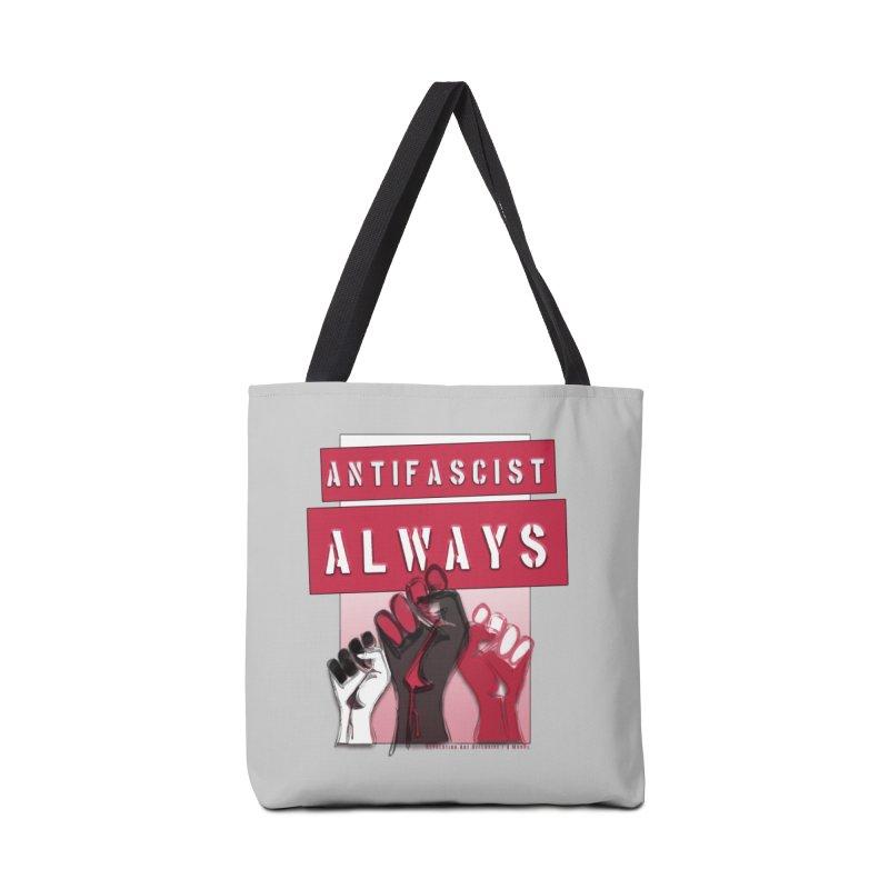 Antifascist Always Red English Accessories Bag by Revolution Art Offensive
