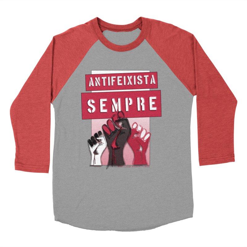 Antifeixista Sempre Catalán: Red Men's Longsleeve T-Shirt by Revolution Art Offensive