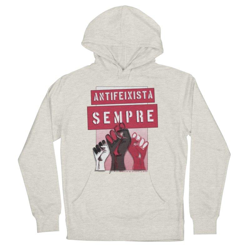 Antifeixista Sempre Catalán: Red Men's Pullover Hoody by Revolution Art Offensive