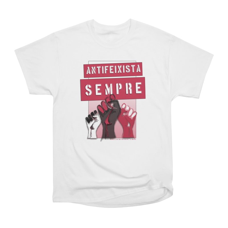 Antifeixista Sempre Catalán: Red Men's Heavyweight T-Shirt by Revolution Art Offensive
