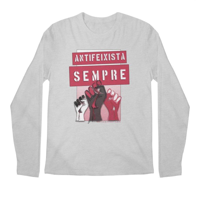 Antifeixista Sempre Catalán: Red Men's Regular Longsleeve T-Shirt by Revolution Art Offensive