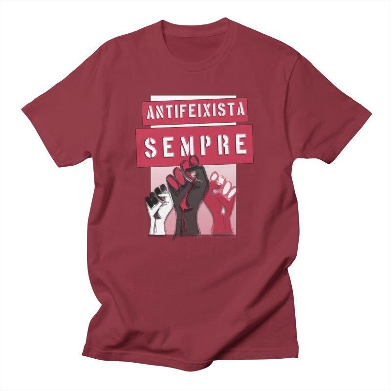 Antifeixista Sempre Catalán: Red Women's Unisex T-Shirt by Revolution Art Offensive