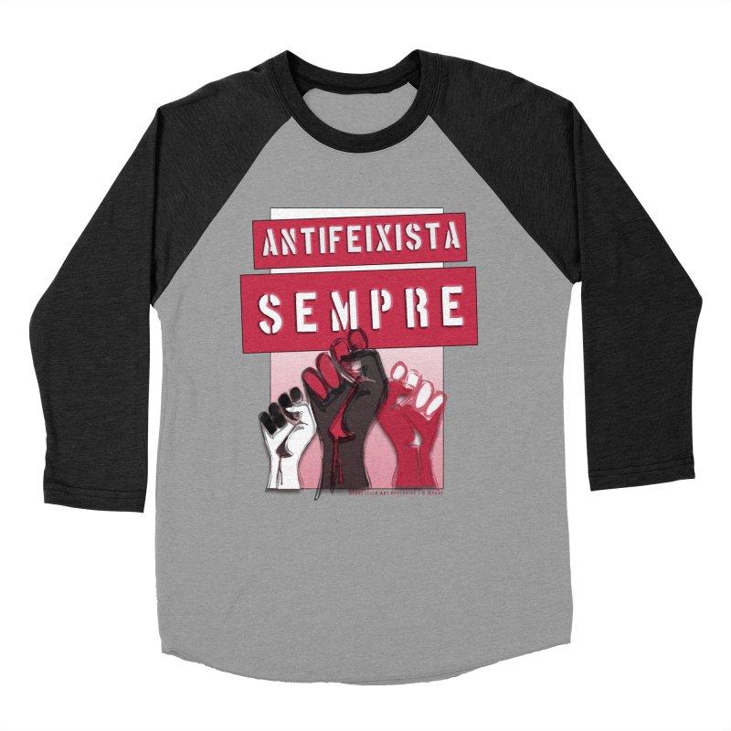 Antifeixista Sempre Catalán: Red Women's Baseball Triblend Longsleeve T-Shirt by Revolution Art Offensive