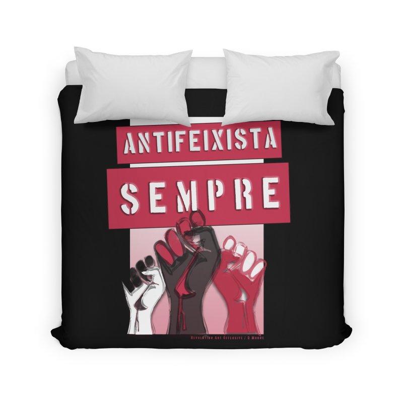 Antifeixista Sempre Catalán: Red Home Duvet by Revolution Art Offensive