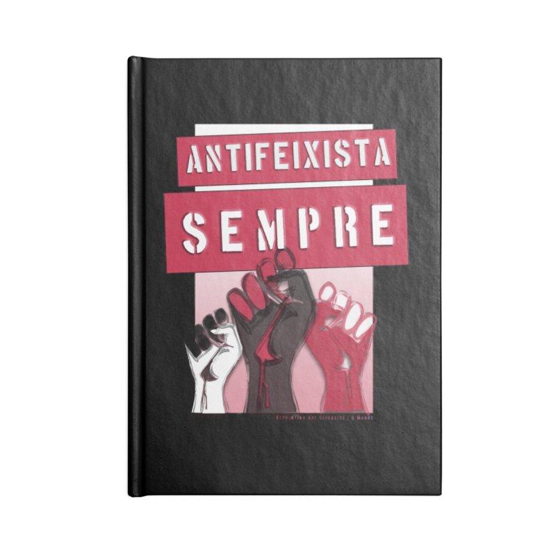 Antifeixista Sempre Catalán: Red Accessories Notebook by Revolution Art Offensive