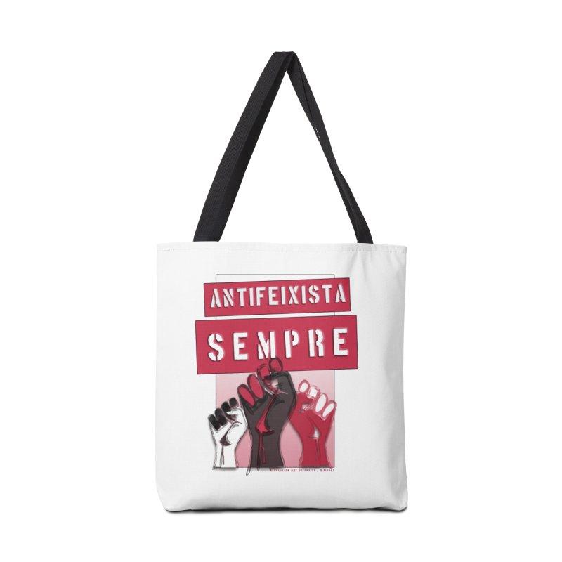 Antifeixista Sempre Catalán: Red Accessories Bag by Revolution Art Offensive