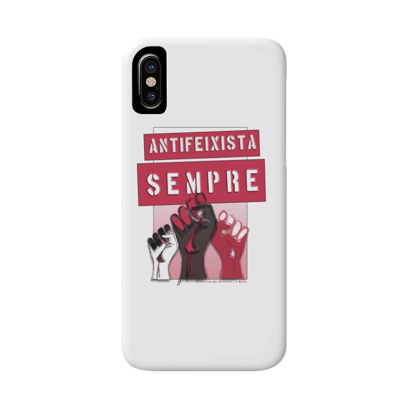 Antifeixista Sempre Catalán: Red Accessories Phone Case by Revolution Art Offensive