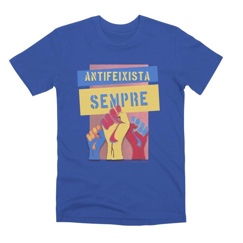 Antifeixista Sempre Catalán Color Men's Premium T-Shirt by Revolution Art Offensive
