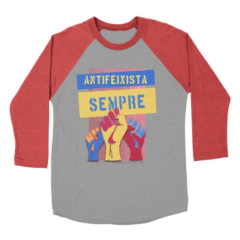 Antifeixista Sempre Catalán Color Men's Longsleeve T-Shirt by Revolution Art Offensive