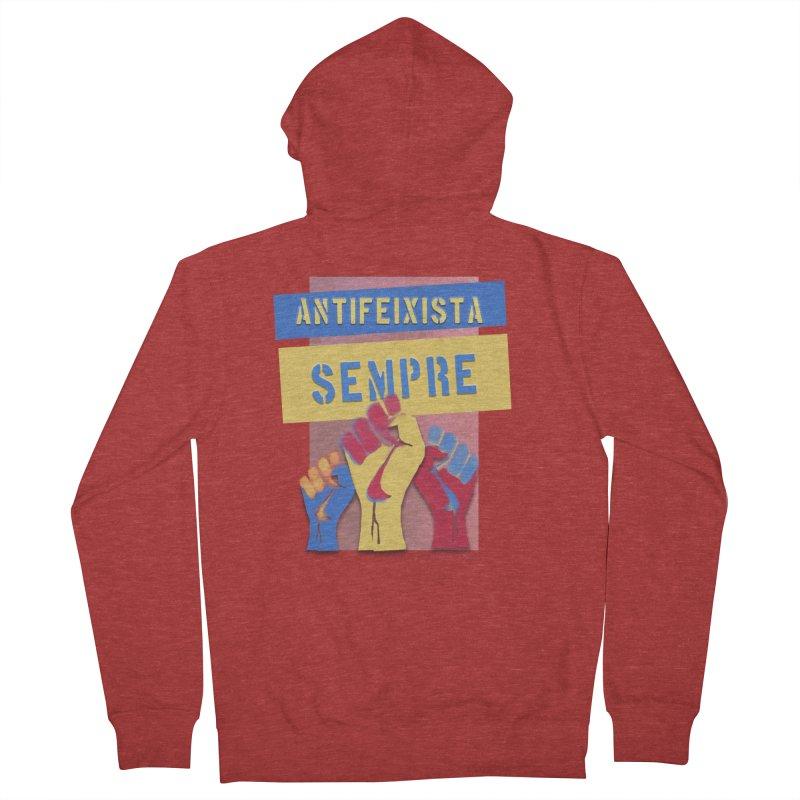 Antifeixista Sempre Catalán Color Women's Zip-Up Hoody by Revolution Art Offensive