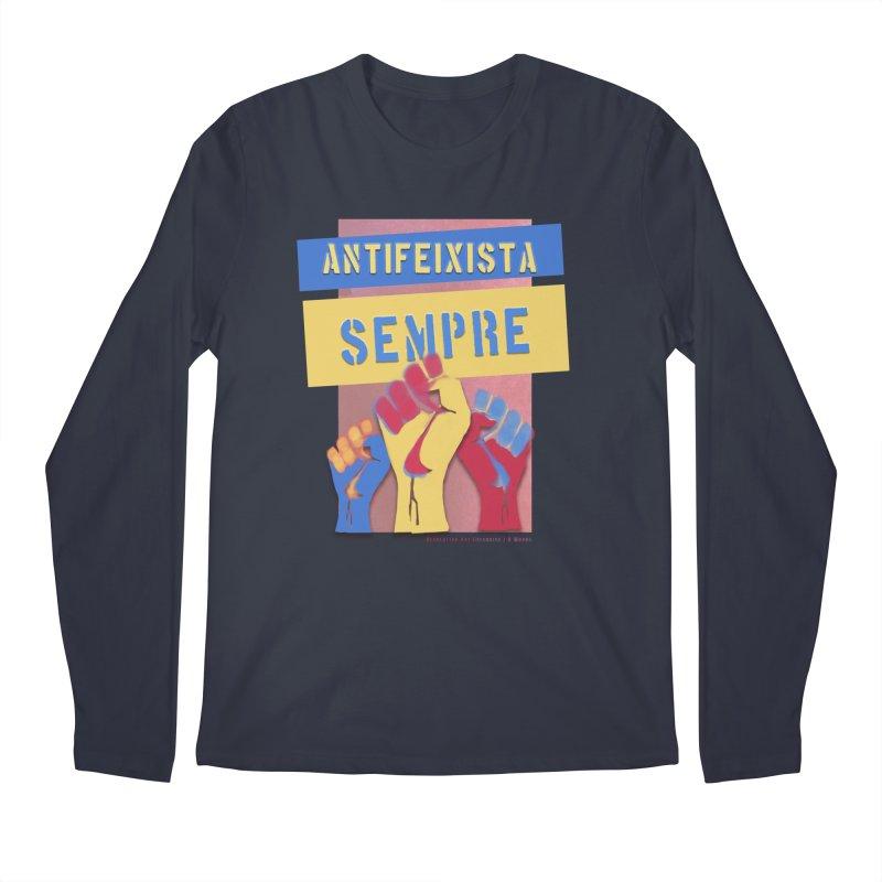 Antifeixista Sempre Catalán Color Men's Regular Longsleeve T-Shirt by Revolution Art Offensive
