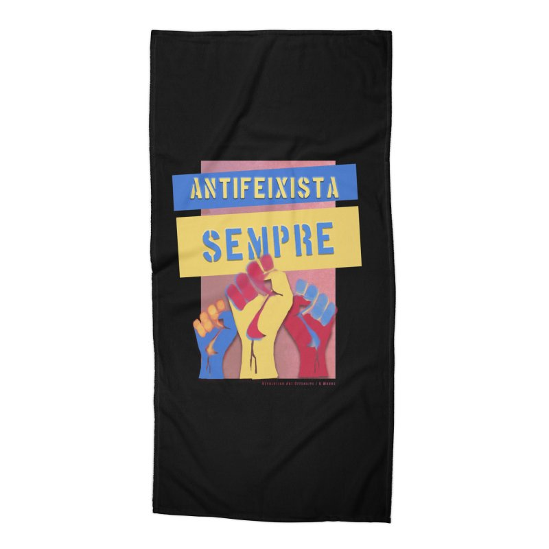 Antifeixista Sempre Catalán Color Accessories Beach Towel by Revolution Art Offensive