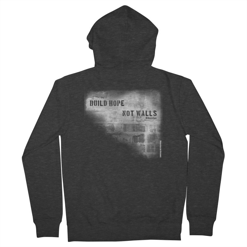 Build Hope Not Walls White Houston Men's Zip-Up Hoody by Revolution Art Offensive