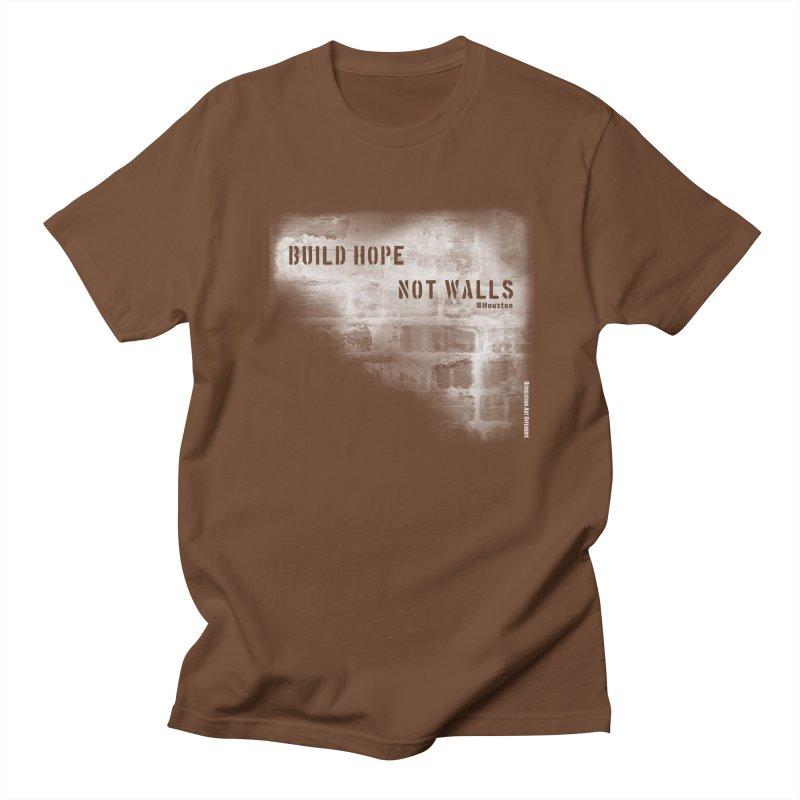 Build Hope Not Walls White Houston Women's Regular Unisex T-Shirt by Revolution Art Offensive